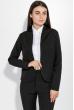 Костюм женский (брюки, пиджак) деловой, в стильных оттенках 72PD155 черный