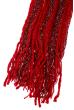Шарф женский двухцветный 73PD006 бордо , люрикс