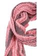 Шарф женский двухцветный 73PD006 розовый , люрикс