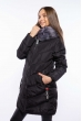 Женская удлиненная куртка 120PSKL9610 темно-синий