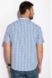 Рубашка 511F025 бело-голубой