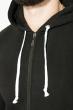 Толстовка мужская теплая, однотонная 70PD5018 черный