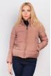 Куртка теплая женская 733K002 бежево-персиковый