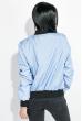 Бомбер женский 72PD191 голубой
