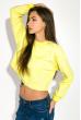 Свитшот женский укороченный 32P028 лимонный