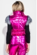 Костюм женский теплый, оттенки металлик, с мехом на плечах 69PD1064 малиновый металик