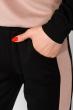 Костюм спортивный констрастных цветов 151P054 черный / капучино