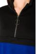 Костюм спортивный констрастных цветов 151P054 черный-электрик