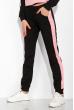 Костюм спортивный констрастных цветов 151P054 черно-розовый