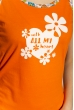 Пижама женская 107P037 оранжевый