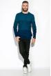 Джемпер 520F028 бирюзово / темно-синий