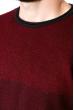 Джемпер 520F028 бордовый / темно-синий