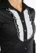 Блуза c воротником жабо 118P291 черно-белый
