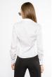 Блуза c воротником жабо 118P291 бело-черный
