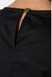 Блузка женская с оборкой на плечах, рукав длинный 64PD275 черный