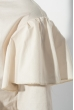 Блузка женская с оборкой на плечах, рукав длинный 64PD275 молочный