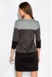 Платье трехцветное 151PK1003 серо-черный