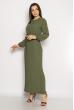 Платье с плиссированной юбкой 640F002-1 хаки