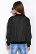 Бомбер женский 109P014 черный меланж