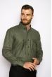 Рубашка с принтом на груди  644f016 хаки