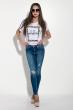 Джинсы женские стильные 104P005 голубой