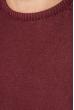 Свитер мужской фактурная вязка на плече 498F005-1 вишневый