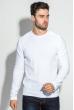 Свитер мужской фактурная вязка на плече 498F005-1 белый