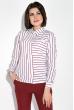 Костюм женский (рубашка,брюки) Классический 95P8024 бордово-белый