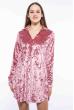 Платье женское с воротником из велюра 121P023 розовый