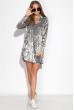 Платье женское с воротником из велюра 121P023 серый