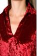 Платье женское с воротником из велюра 121P023 бордовый