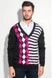 Пуловер мужской с комбинированным орнаментом 50PD311 черный