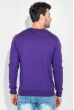Пуловер мужской с комбинированным орнаментом 50PD311 фиолетовый