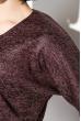 Платье (полубатал) с люрексом  95P7084-1 марсала , люрикс
