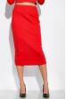 Костюм (гольф, юбка) 110P591-2 красный