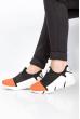 Кроссовки женские 11PWB230 черно-белый / оранжевый