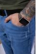 Джинсы с легкой потертостью 148P025 голубой