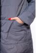 Пальто женское двустороннее 110P042 серо-черный