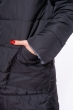 Пальто женское двустороннее 110P042 черно-серый