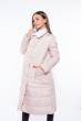 Пальто женское двустороннее 110P042 бежево-белый