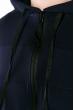 Костюм спортивный мужской, однотонный с капюшоном 103P001 темно-синий