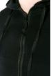 Костюм спортивный мужской, однотонный с капюшоном 103P001 черный