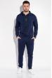 Костюм спортивный мужской, однотонный с капюшоном 103P001 синий