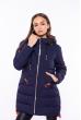 Куртка женская ассиметричного кроя 120PSKL737 темно-синий