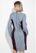 Платье женское (батал) стройный силуэт 74PD361 джинс меланж-черный