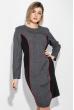 Платье женское (батал) стройный силуэт 74PD361 серый меланж-черный
