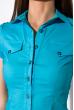 Классическая рубашка 118P001 с коротким рукавом голубой