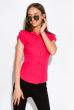 Классическая рубашка 118P001 с коротким рукавом малиновый