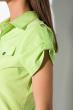 Классическая рубашка 118P001 с коротким рукавом неон