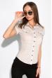 Классическая рубашка 118P001 с коротким рукавом песочный